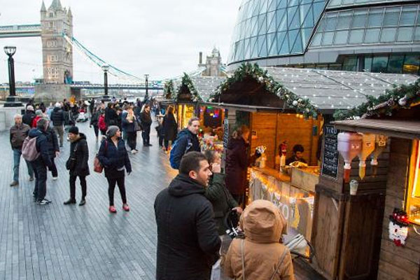 christmas market by the river