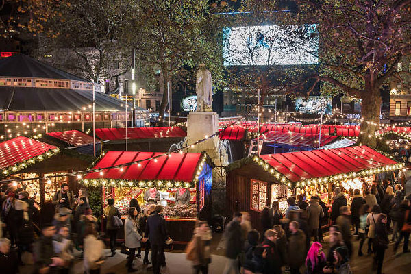 leicster square christmas market