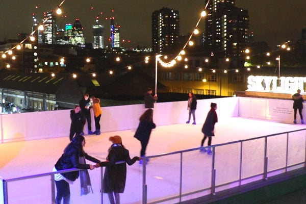 tobacco dock ice skating