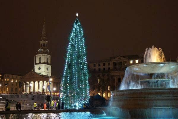 trafalgar christmas lights