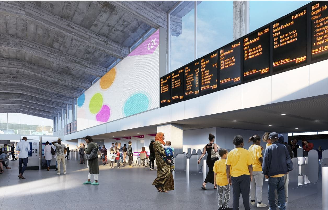 Barking Station Proposed Internal View Light