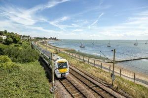 Train Travelling On Southend Coast