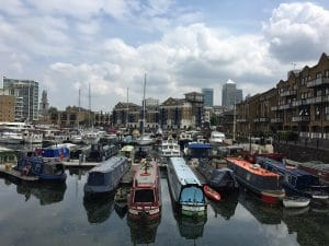 Boats in Limehouse Basin