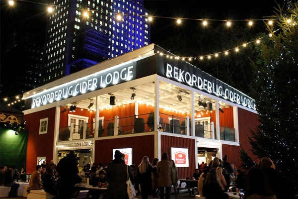 Rekorderlig Cider Lodge pop up