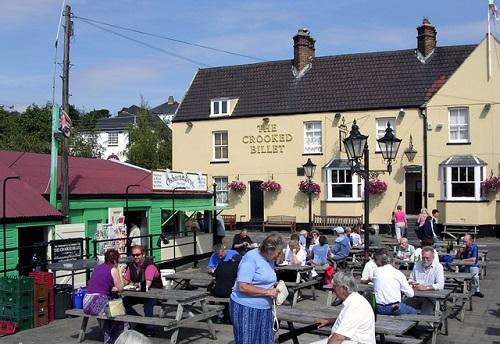 The Crooked Billet pub garden
