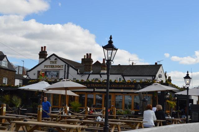 The Peterboat pub garden