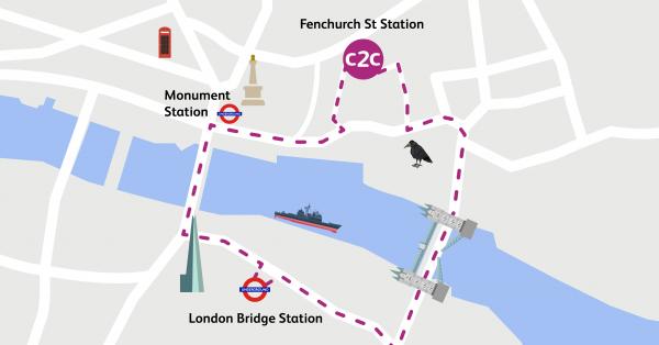 Walking Routes London Fenchurch Street To London Bridge