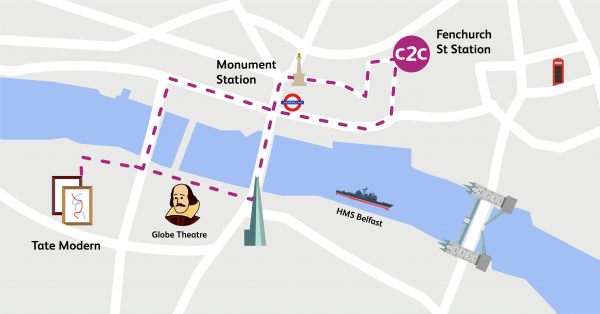 Walking Routes London Fenchurch Street To South Bank