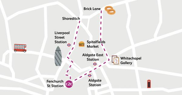 Walking Routes London Fenchurch Street To Spitalfields