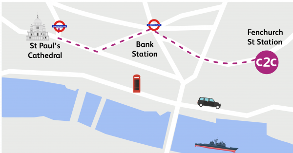 Walking Routes London Fenchurch Street To St Pauls