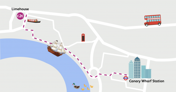 Walking Routes London Limehouse To Canary Wharf