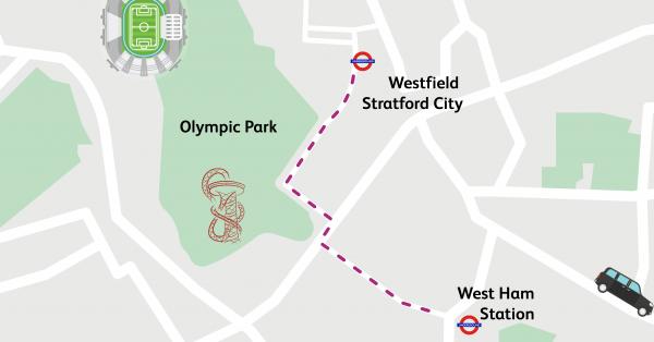Walking Routes London West Ham To Westfield